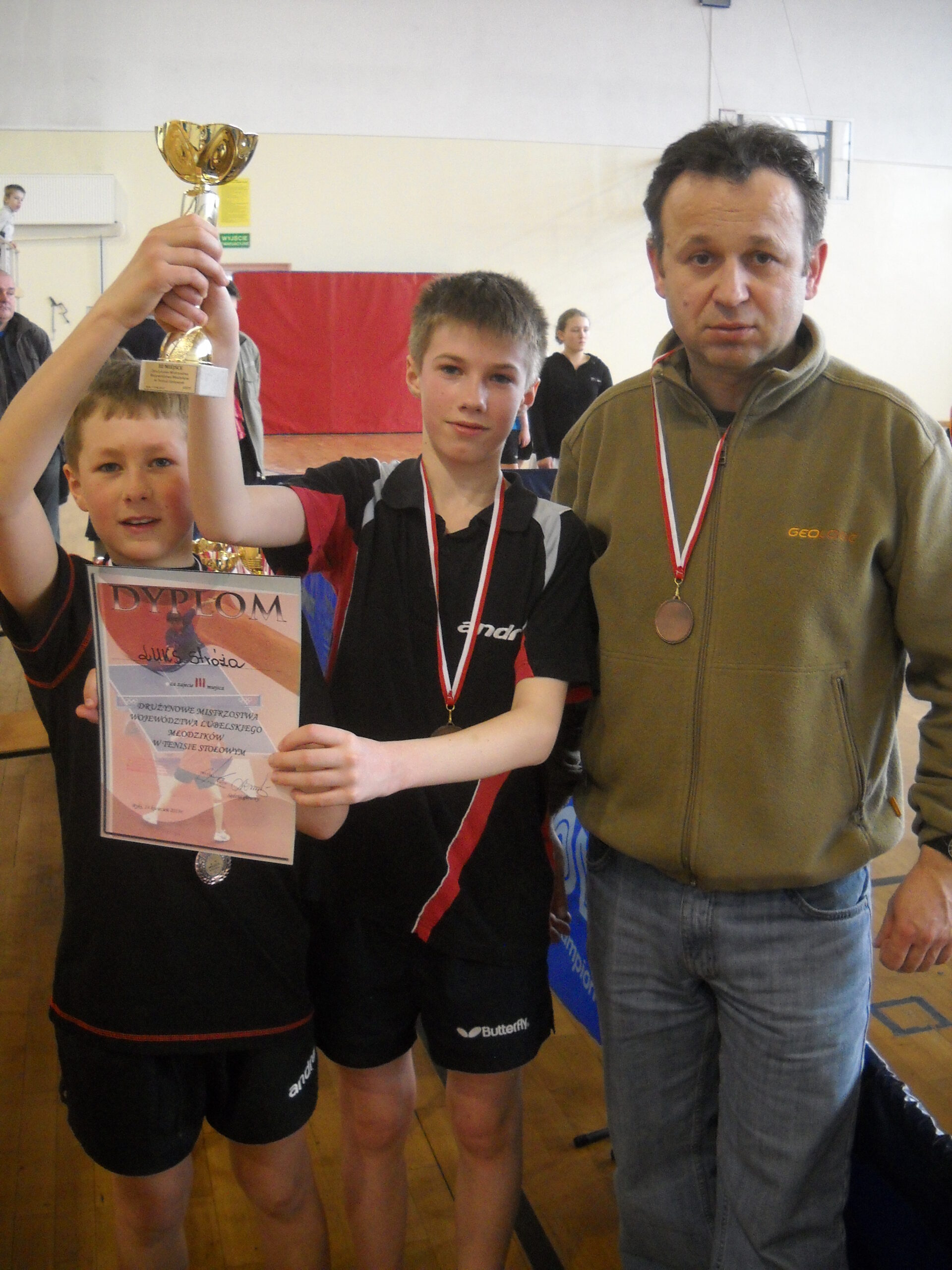 Kolejne medale pingpongistów.