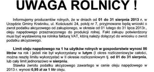 podatki rOLNICY222