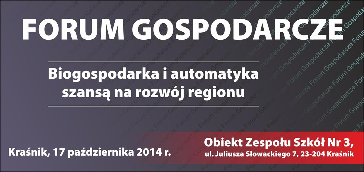 Zaproszenie - Forum Gospodarcze 14 1