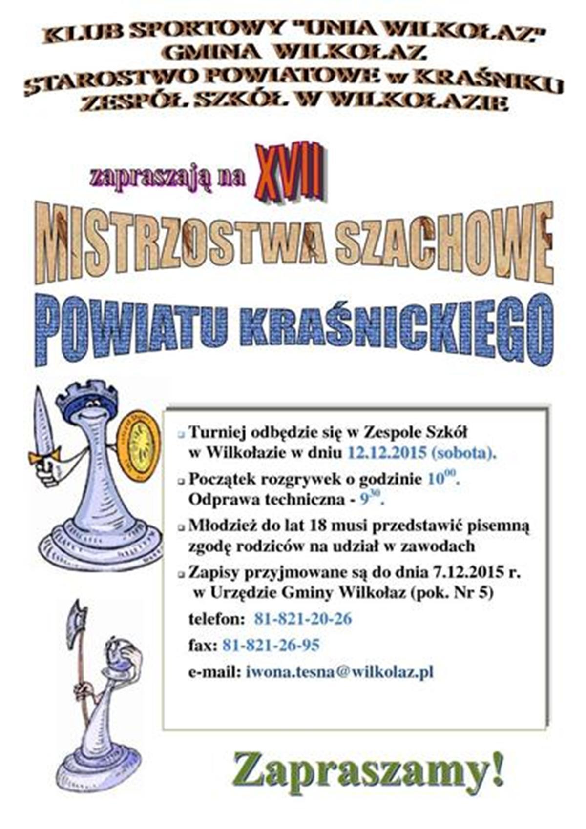 Zaproszenie na   Szachy-2015