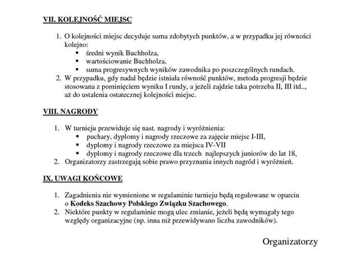 Regulamin Mistrzostw Szachowych 2015  5