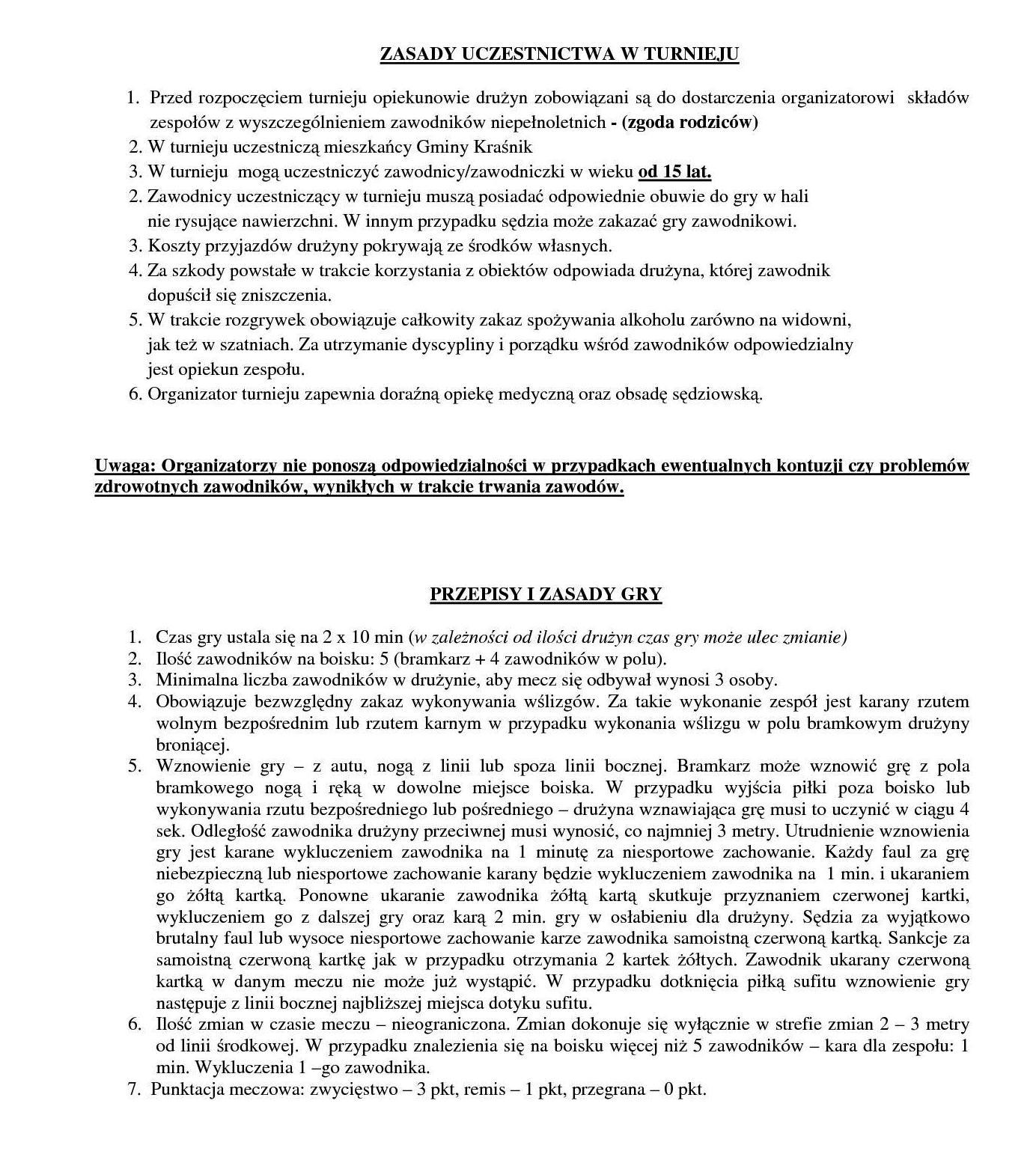 Regulamin Puchar Wójta Gminy Kraśnik2
