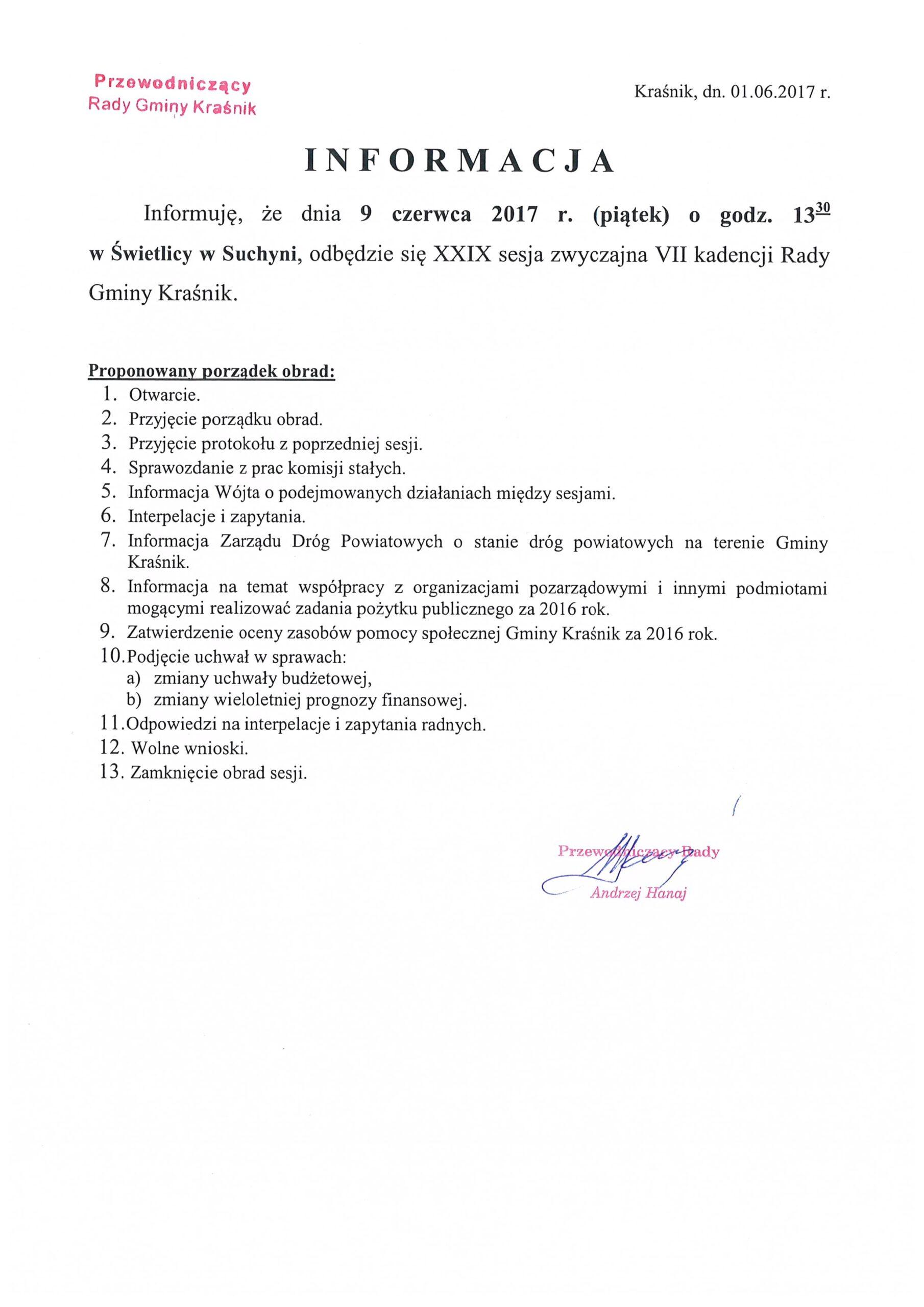 informacja o sesji XXIX scaled