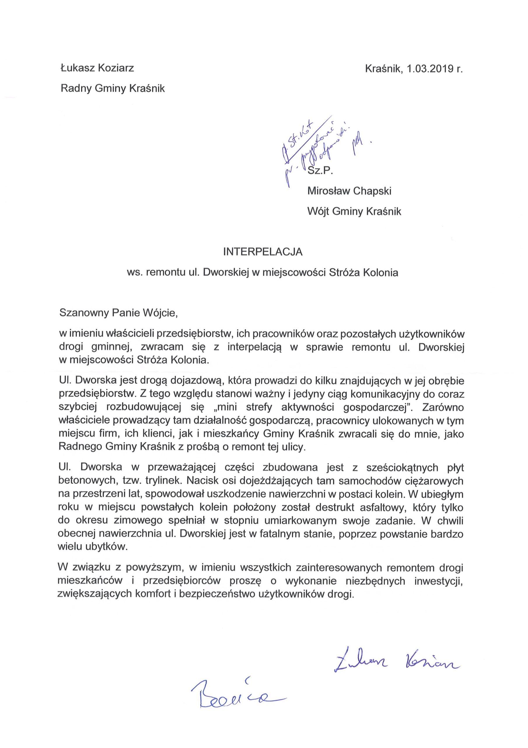 interpelacja Łukasz Koziarz2