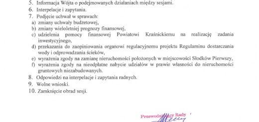 informacja o XLII Sesji Rady Gminy Kraśnik scaled