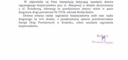 Odp. interpelacja Pan Krzysztof Czachór scaled