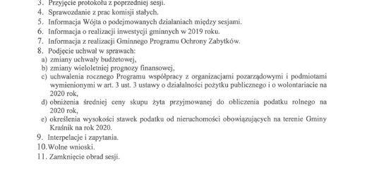 informacja o XII sesji Rady Gminy Kraśnik scaled