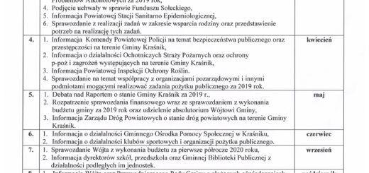 Palan pracy Rady Gminy Kraśnik na 2020 rok scaled