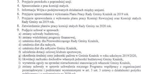 informacja o XIV sesji Rady Gminy Kraśnik scaled