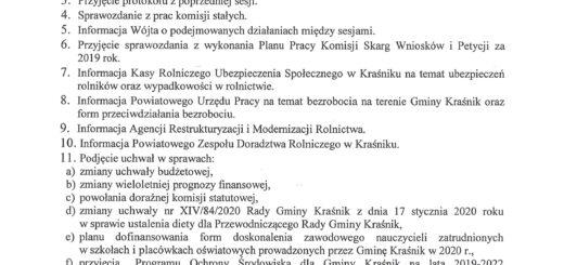 Informacja o XV sesji Rady Gminy Kraśnik scaled
