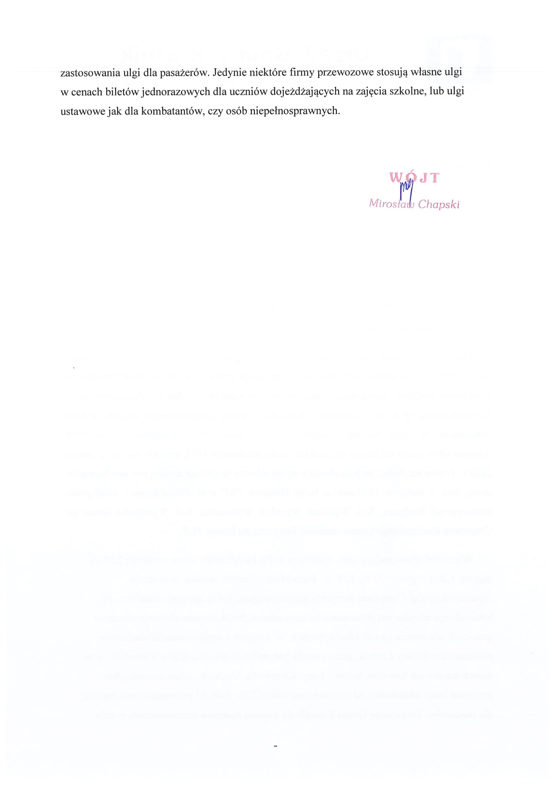 odp. na interpelację Pani Bernadety Stachyra II