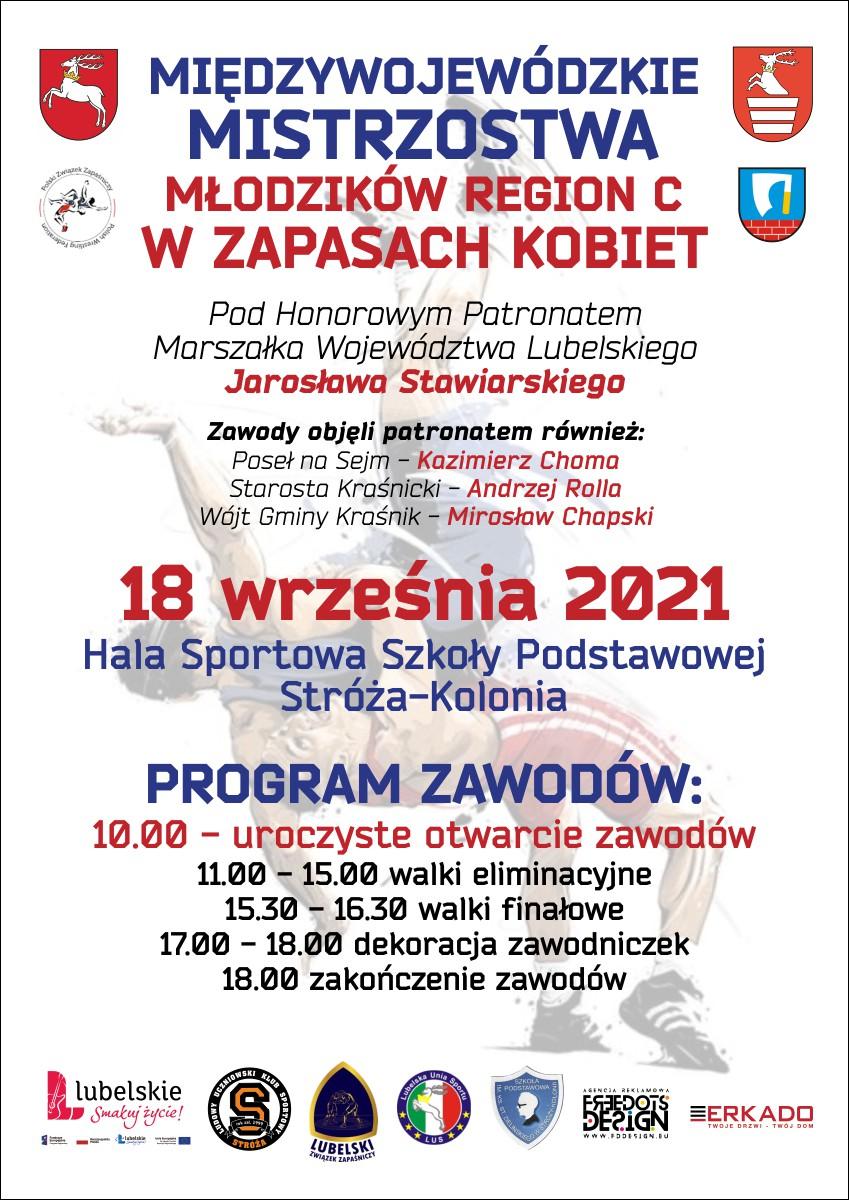 Międzywojewódzkie Mistrzostwa Młodzików Region C w Zapasach Kobiet 18.09.2021 r.