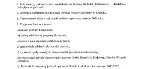 Informacja o sesji 17.09.2021 r